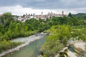 image of molar  - Molare (Alessandria Piedmont Italy): the historic town in Monferrato and the Orba creek