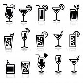 foto of bloody mary  - Alcohol icons set  - JPG