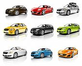pic of three-dimensional  - Collection of 3D Cars Isolated - JPG