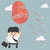 picture of depreciation  - Illustration Cartoons concepts Businessman not a bonus - JPG