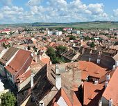 stock photo of sibiu  - sibiu city romania general view houses roofs - JPG