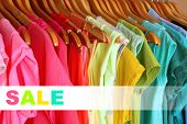 stock photo of wardrobe  - Concept of discount - JPG