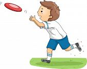 pic of frisbee  - Illustration of a Boy Catching a Frisbee - JPG