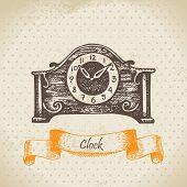 picture of pendulum clock  - Vintage clock - JPG
