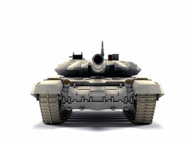 picture of panzer  - Old battle Tank isolated on the white background - JPG