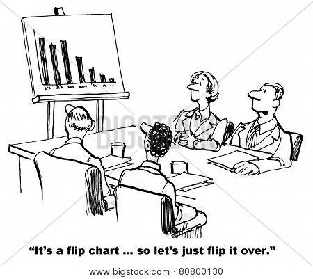 Flip Chart Business Results