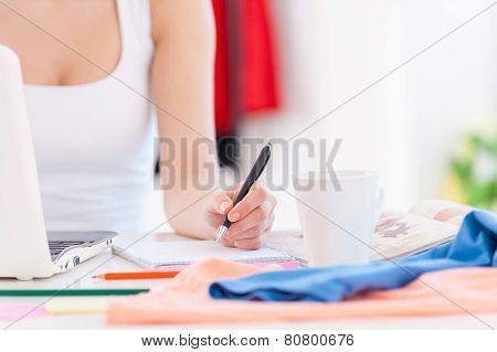 Working In Design Studio.