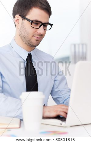 Businessman At Working Place.