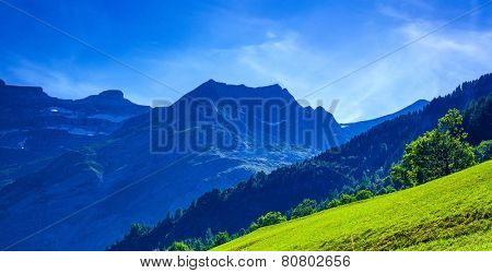 Pyrenees mountains summer view.