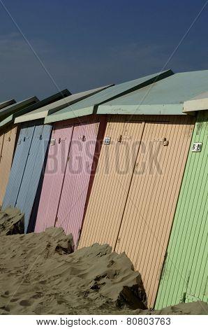 Beach Huts In Berck In Nord Pas De Calais
