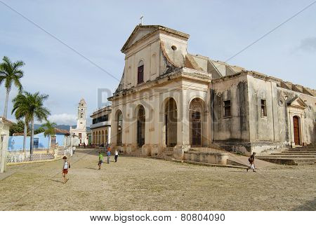 Church of the Holy Trinity exterior in Trinidad, Cuba.