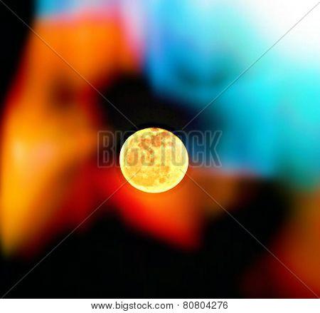 tie dye moon
