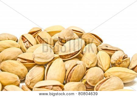 Heap Of Many Roasted Pistachios