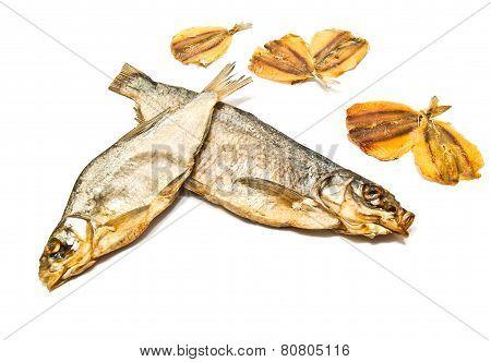 Various Fish Appetizer Closeup