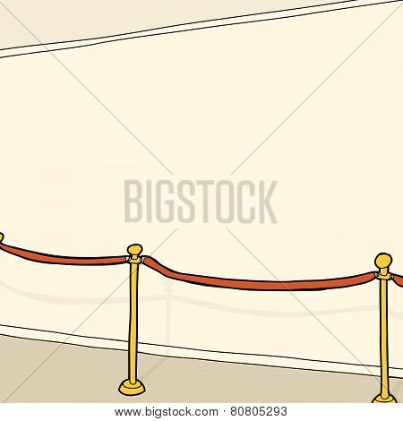 Stanchion And Blank Wall