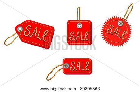 Sale Icons On White