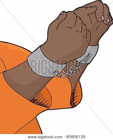 Isolated Cuffed Hands