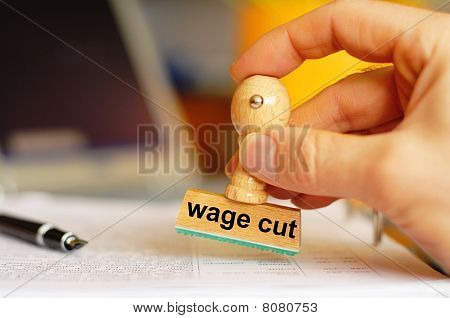 Wage Cut
