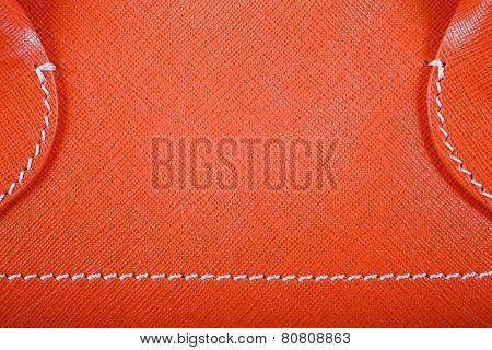 Orange Stitched Leather