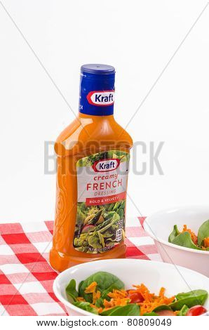 French Dressing On Spinach Salad