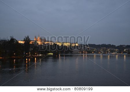 Vltava at night
