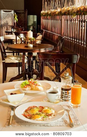 Breakfast At Restaurant