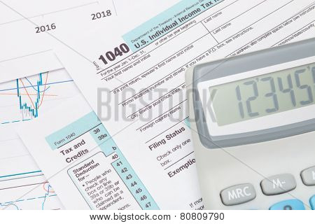 Calculator Over Us 1040 Tax Form