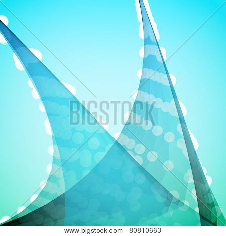 Turquoise Abstract Vector Background