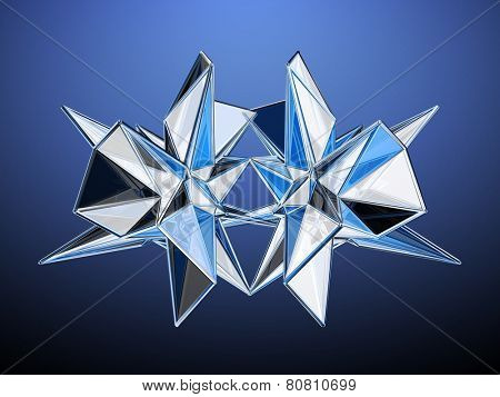 Polygonal Mirroring Abstract Design