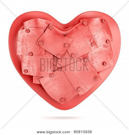 Heart With Metal Plated