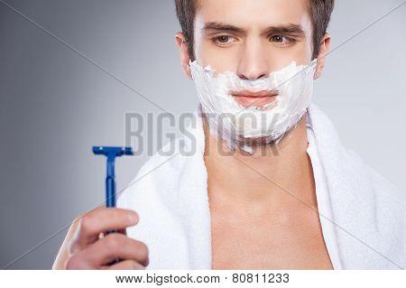 Shaving With Bad Razor.