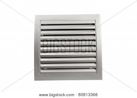 Square Bathroom Exhaust Ventilation Fan On White Background, Isolated With Clipping Path.