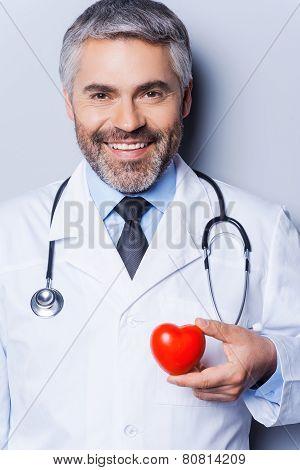 Confident Cardiologist.