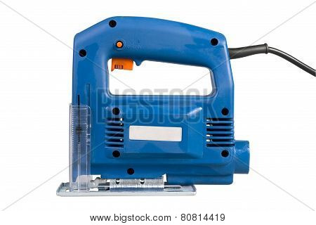Jig Saw Shot Isolated Over White Background With Clipping Path