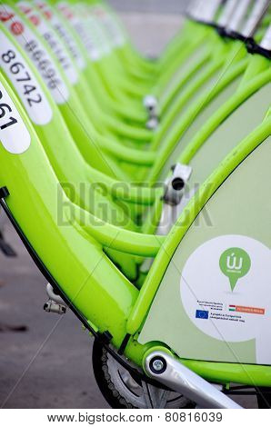 Budapest, Hungary - December 12 2014:new Budapest Bike Hire Called