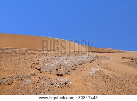 Sand Dune And Dry River Bed