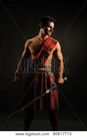highlander with sword