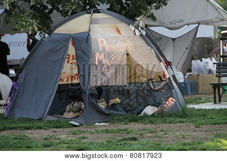 The Camp Of The Occupy Movement In Washington