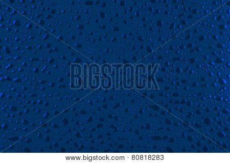 Blue Water Drops Background.