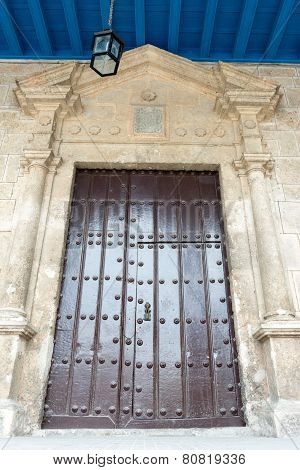 Vintage Colonial Door in Old Havana,Cuba
