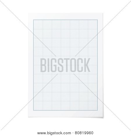 Vector Portrait Orientation Engineering Graph Paper