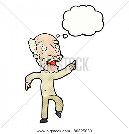cartoon stressed out old man