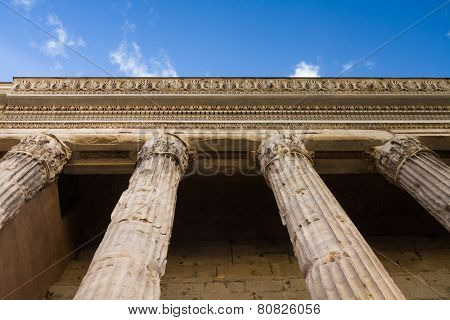 Colonnade Of The Temple Of Hadrian