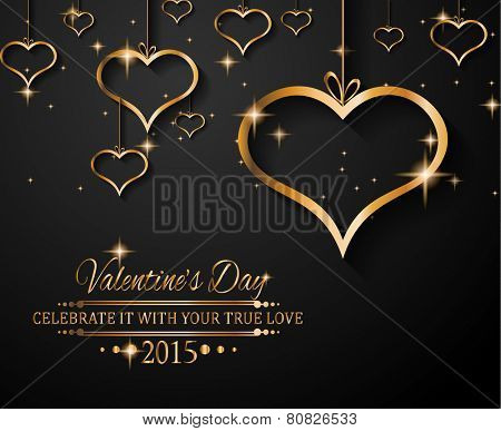 San Valentine's Day background for dinner invitations, romantic letterheads, book covers, poster layout or couple themed parties.