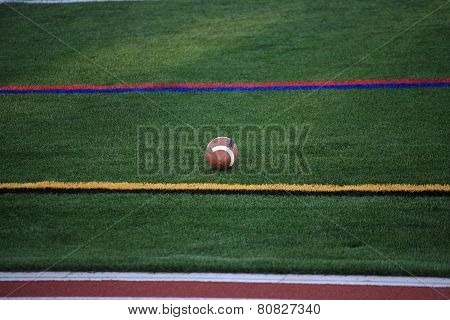 Football And Sidelines