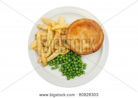 Pie Chips And Peas