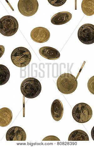 Rain of coins.