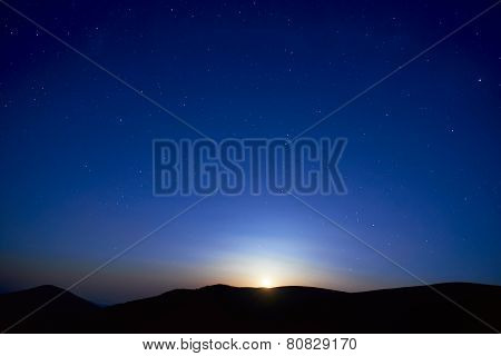 Blue Dark Night Sky With Stars