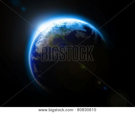 Blue Planet Earth as seen from space