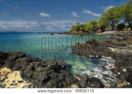 Ahihi Bay in Waiala Cove, south Maui, Hawaii, USA
